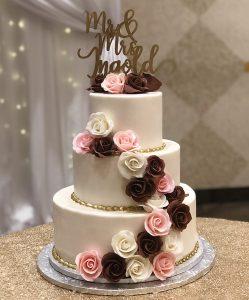 Willow Cakes & Pastries 3-Tier White on white wedding cake