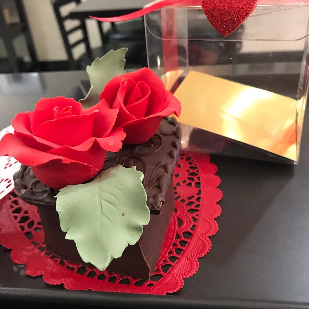 Valentines Day Personal Chocolate Cake by Willow Cakes & Pastries