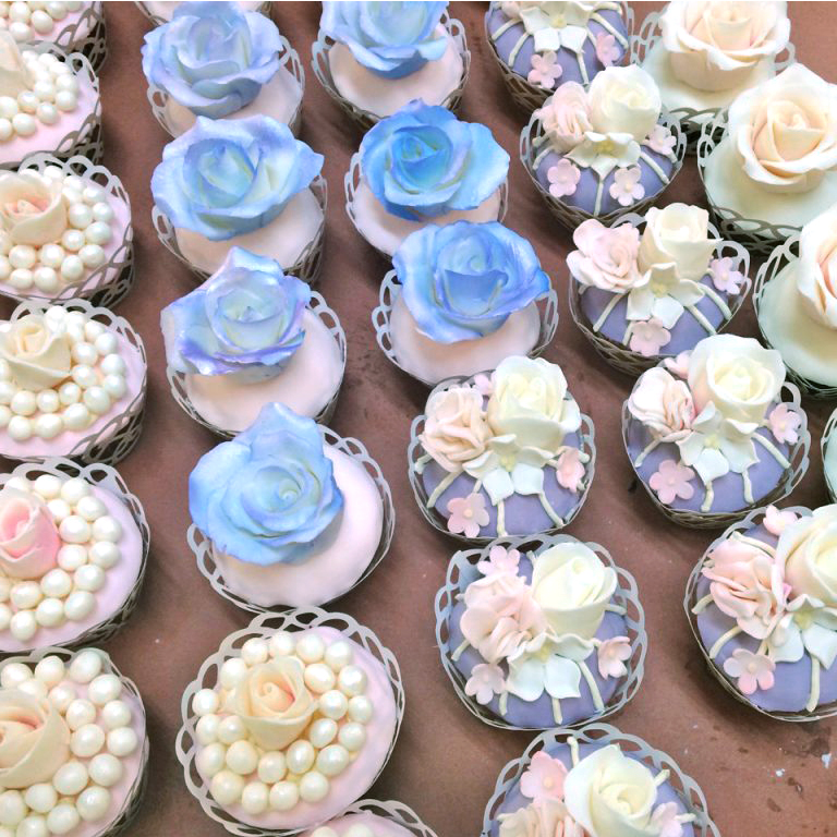 pretty pastel pastries
