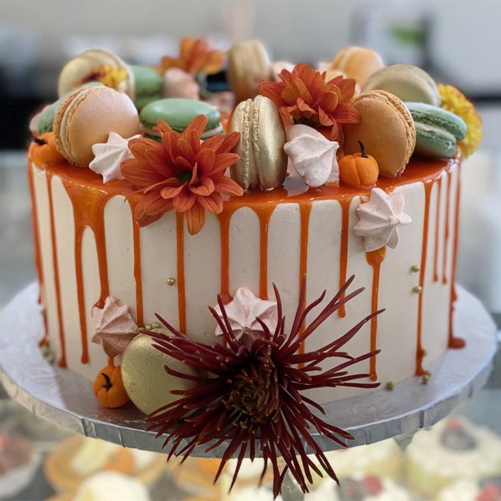 Custom Fall Drip Cake