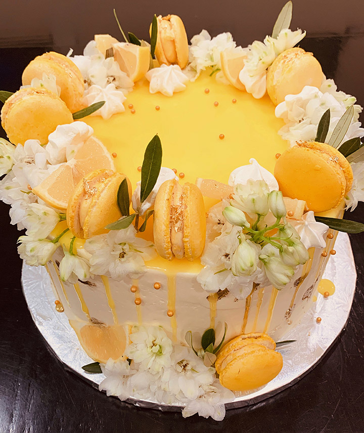 Custom Summer Drip Cake