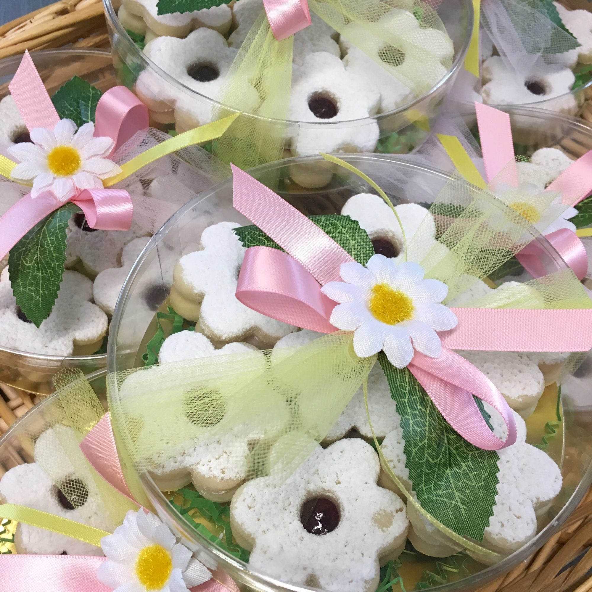 Gift Box of Flower-Shaped Cookies