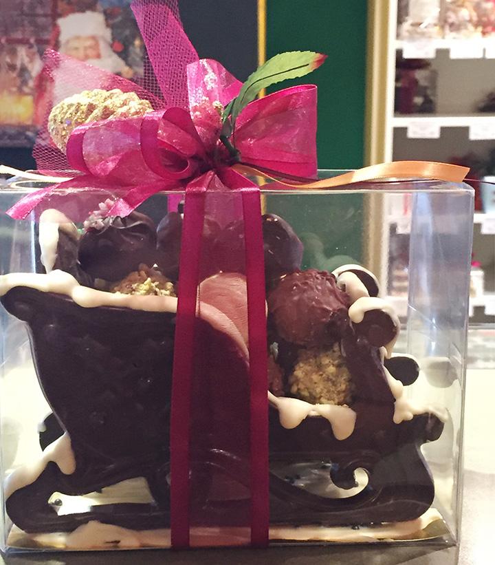 Chocolate Sleigh with Truffles